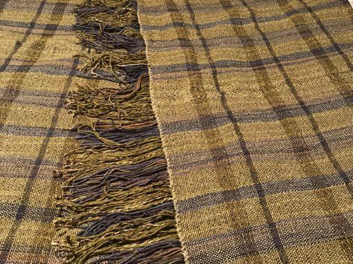 Double width double weave blanket