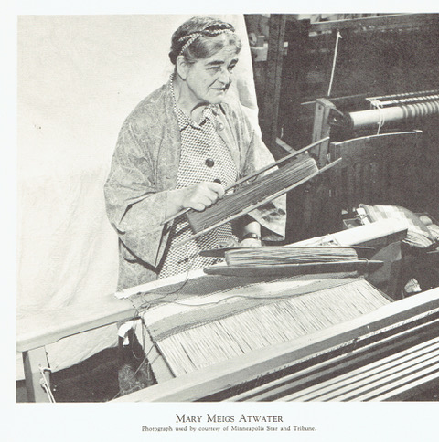 Mary Meigs Atwater weaving