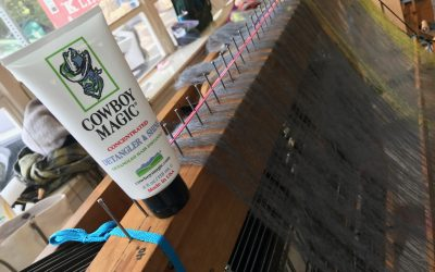 Weaving with Mohair? 2 words…Cowboy Magic!
